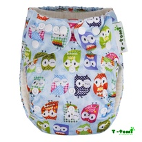 Pocket bambù T-Tomi - blue owls immagine-1