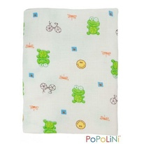 Muslin 120x120 cotone - frog immagine-1
