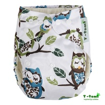 Pocket bambù T-Tomi - white owl immagine-1