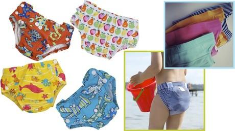 pannolini lavabili per piscina, costumini contenitivi