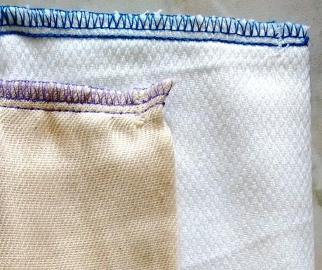 pannolini lavabili prefold, tessuti