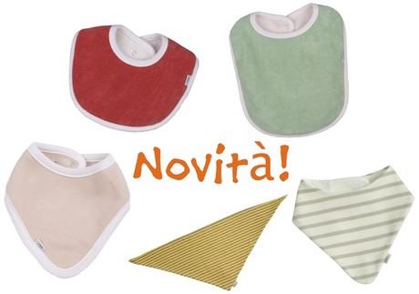 abbigliamento biologico per bambini - bavaglini in cotone biologico GOTS