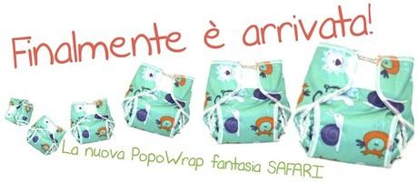 Pannolini lavabili - nuova mutandina impermeabile PopoWrap Safari