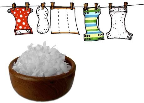 pannolini lavabili - lavaggio - scaglie sapone