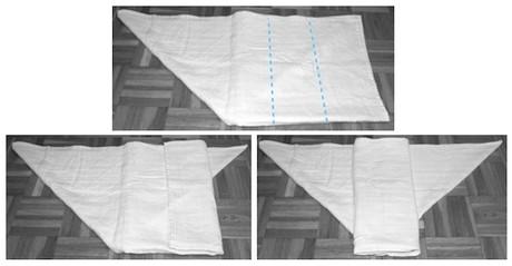 muslin piegatura origami 4